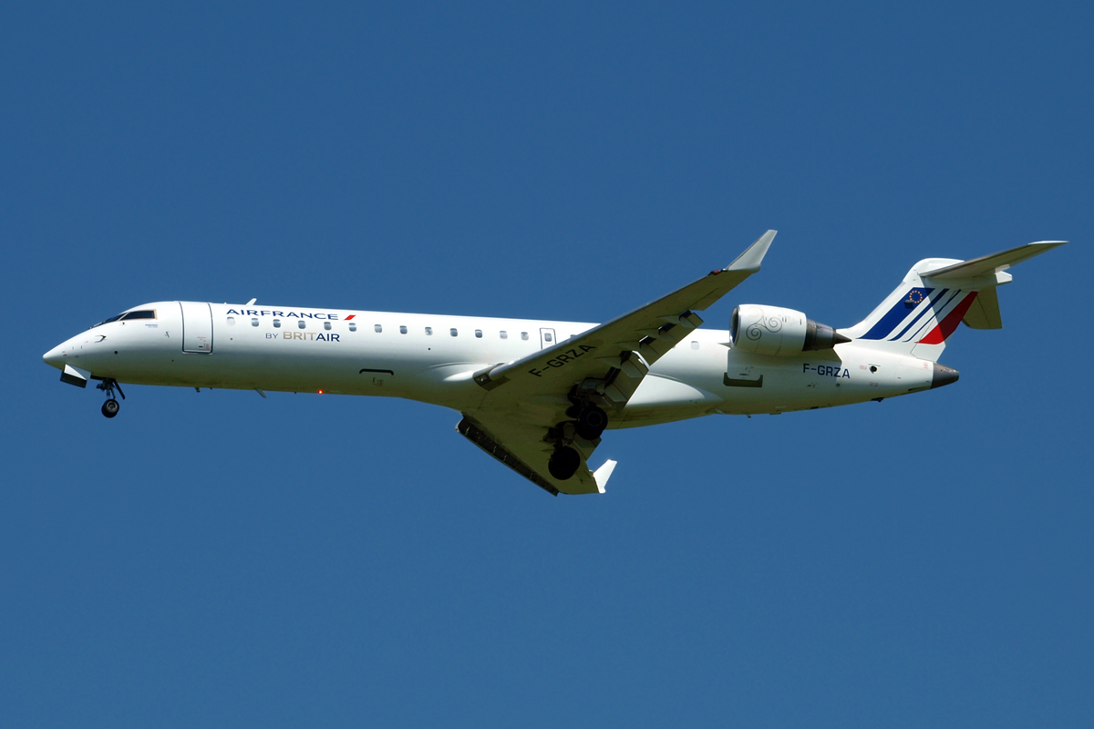 CRJ-702 Air France (Brit Air) F-GRZA Zagreb_Pleso (ZAG/LDZA) June_9_2010