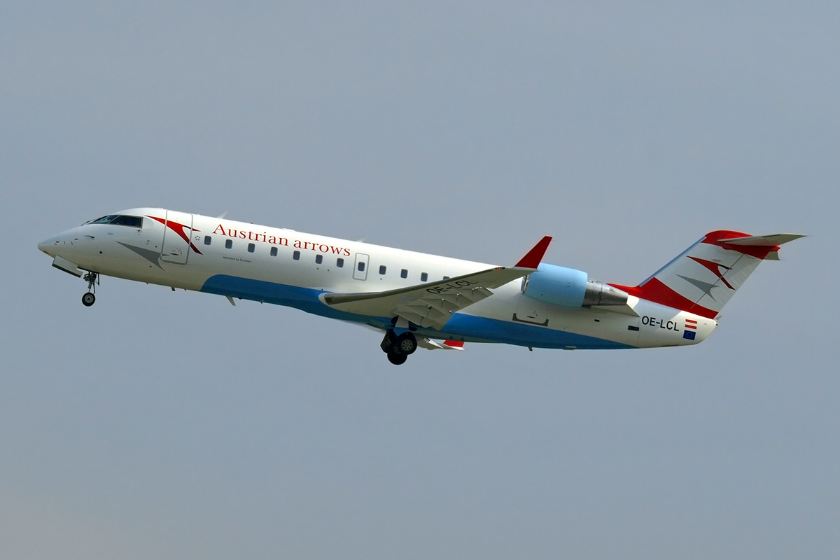 CRJ-200LR Austrian Arrows (Tyrolean Airways) OE-LCL Zagreb_Pleso (ZAG/LDZA) September_25_2008