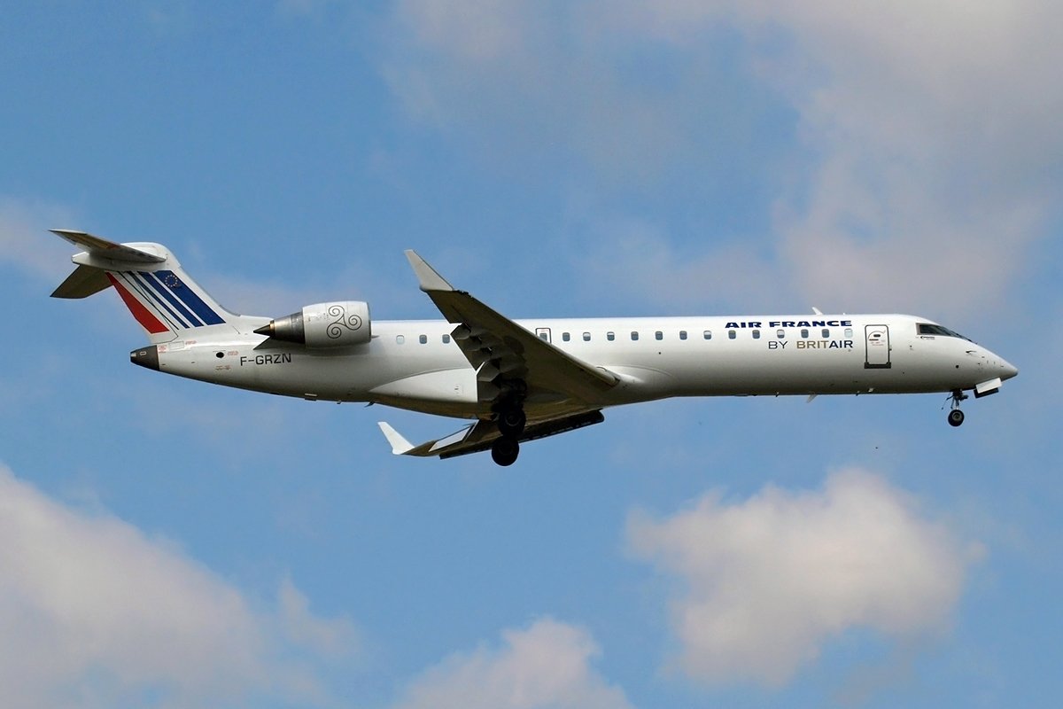 CRJ-702 Air France (Brit Air) F-GRZN Zagreb_Pleso (ZAG/LDZA) September_17_2008