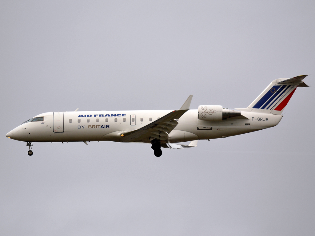 CRJ-100ER Air France (Brit Air) F-GRJM Prague_Ruzyne (PRG/LKPR) December_23_2011
