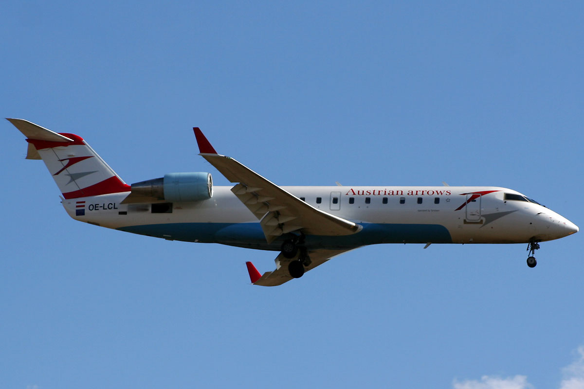 CRJ-200LR Austrian Arrows (Tyrolean Airways) OE-LCL Zagreb Pleso (ZAG/LDZA) March_6_2009
