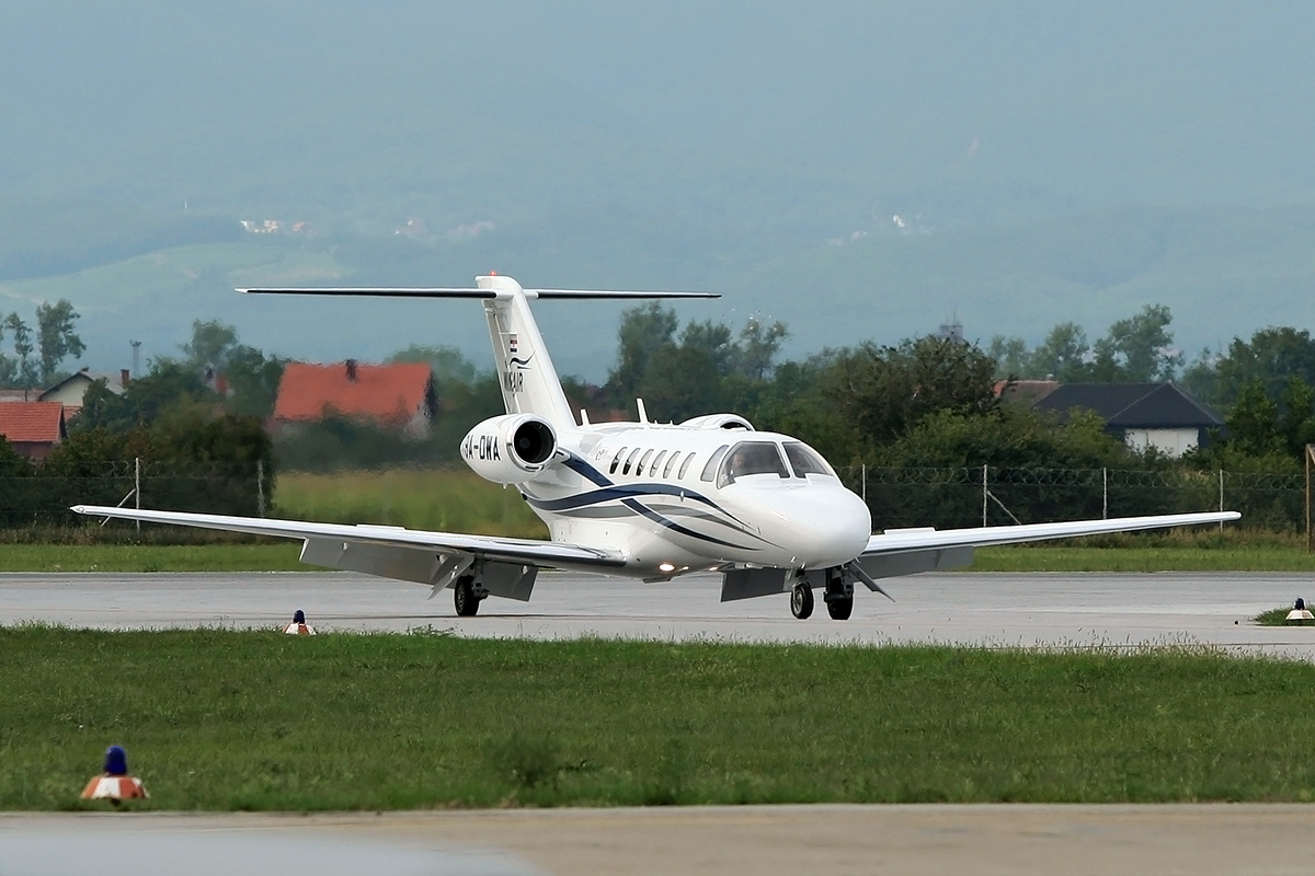 Cessna 525A Citation CJ2+ Winair 9A-DWA Zagreb_Pleso August_15_2008