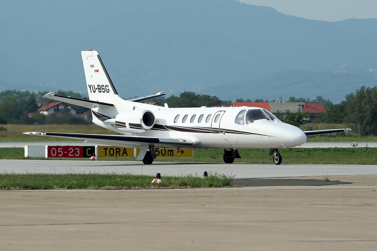 Cessna 550B Citation Bravo Prince Aviation YU-BSG Zagreb_Pleso (ZAG/LDZA) August_15_2008