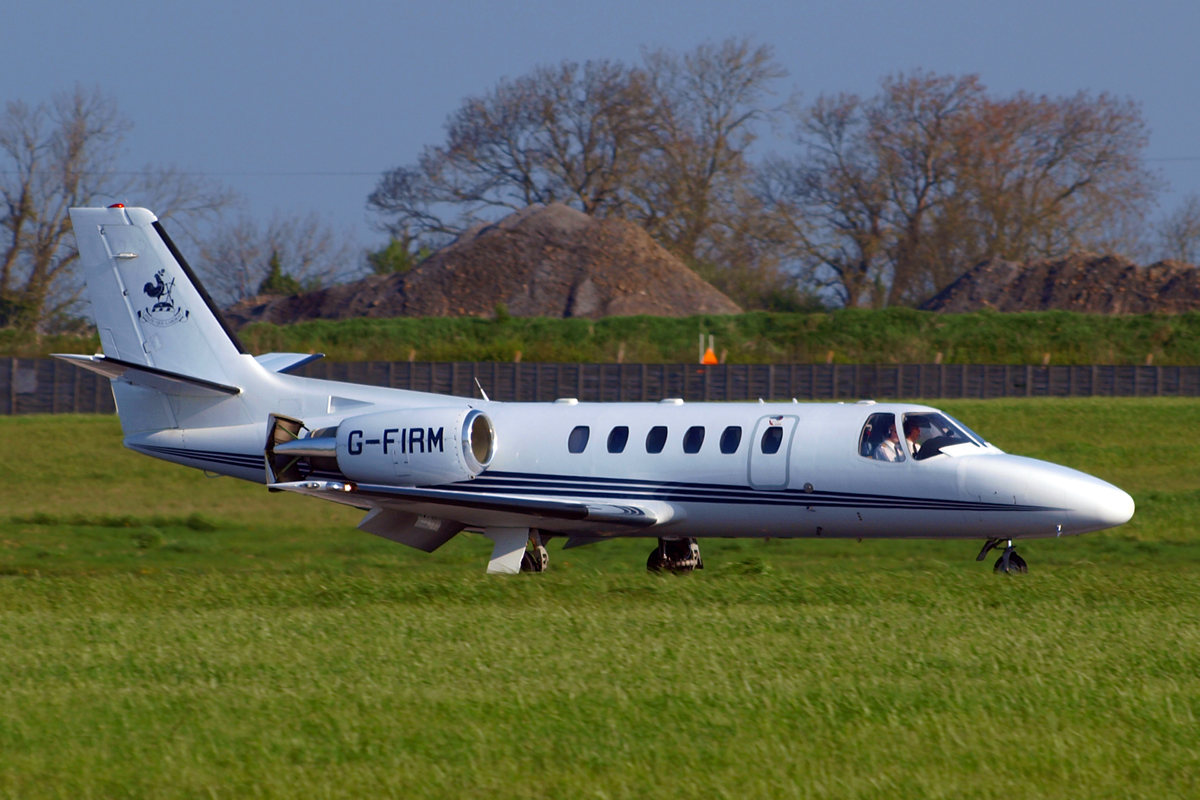 Cessna 550B Citation Bravo Marshall of Cambridge Aerospace Dublin_Collinstown (DUB/EIDW) April_18_2009