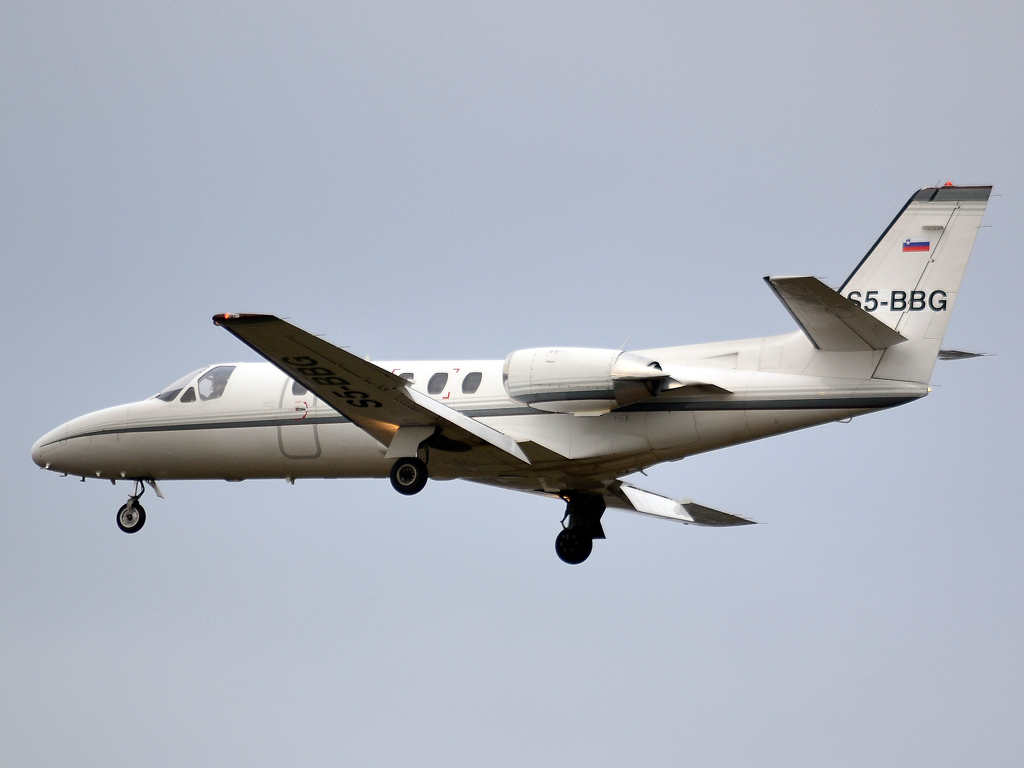 Cessna 550 Citation II GIO Business Aviation S5-BBG Prague_Ruzyne (PRG/LKPR) December_23_2011