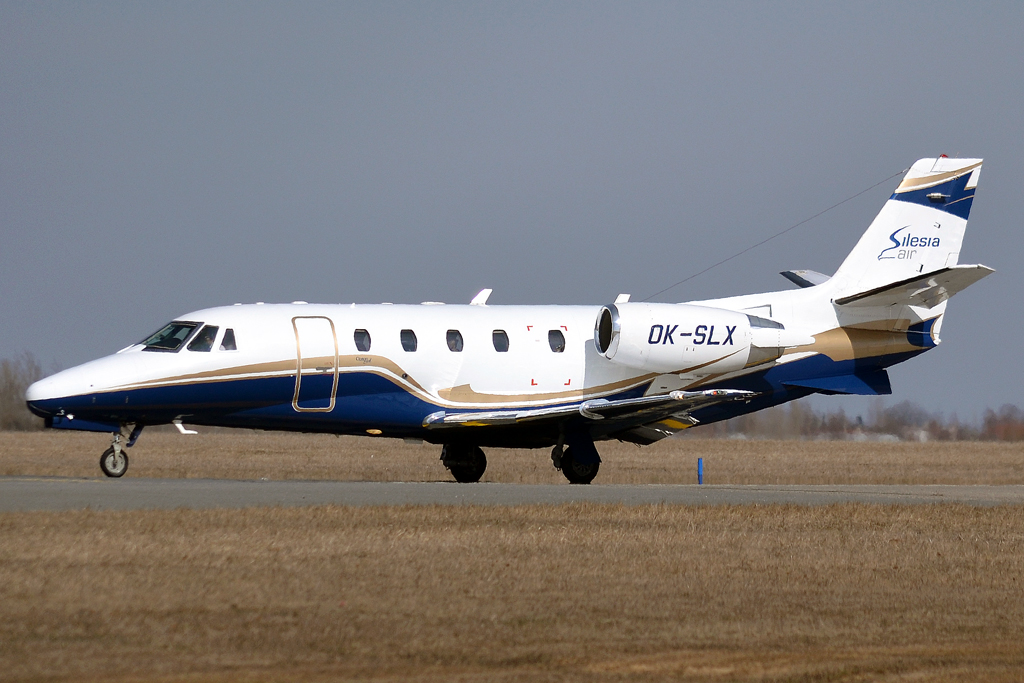Cessna 560XL Citation Excel Silesia Air OK-SLX Prague_Ruzyne (PRG/LKPR) March_24_2013