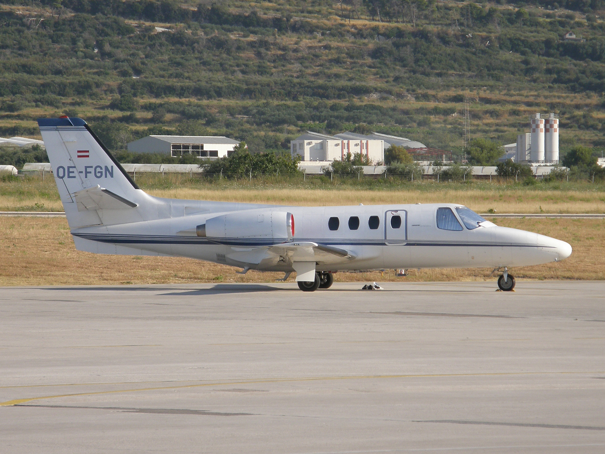Cessna 500 Citation Airlink Luftverkehrsgesellschaft OE-FGN Split_Resnik (SPU/LDSP) August_18_2009