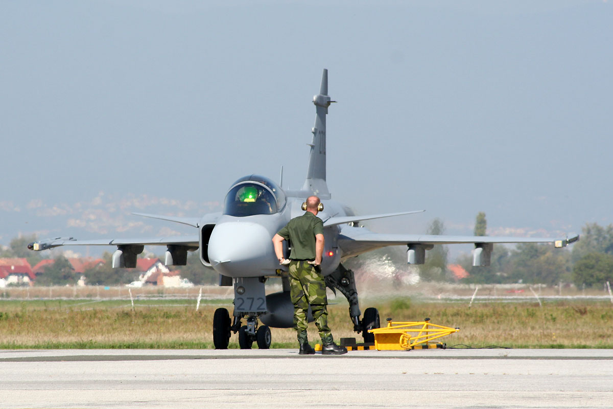 Saab JAS-39C Gripen Sweden Air Force 39272 Zagreb_Pleso (ZAG/LDZA) October_5_2009