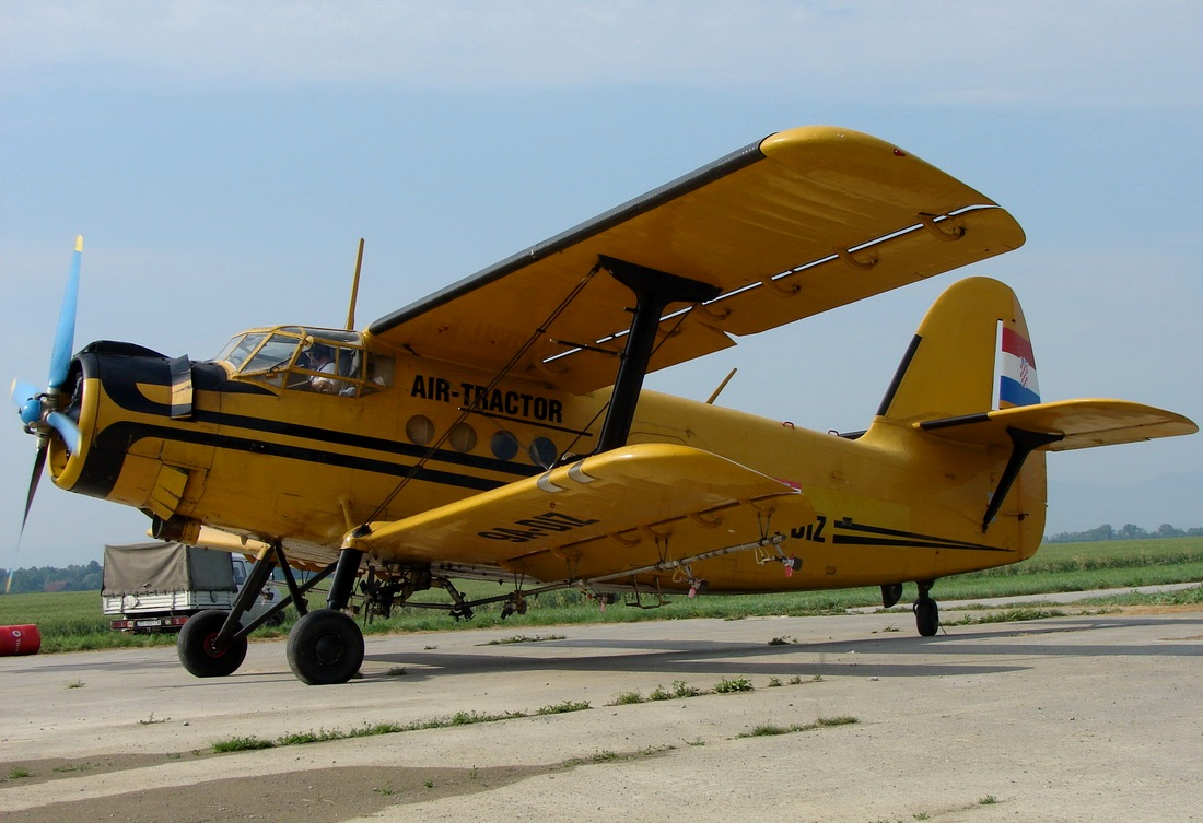 Antonov An-2 Air-Tractor 9A-DIZ Off Airport (Obradovci) May_24_2011.