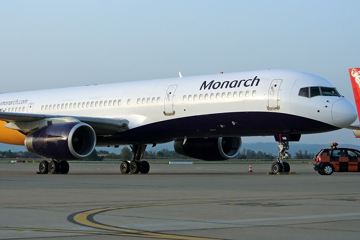 B757-2T7 Monarch Airlines G-MONB Zagreb_Pleso September_10_2008