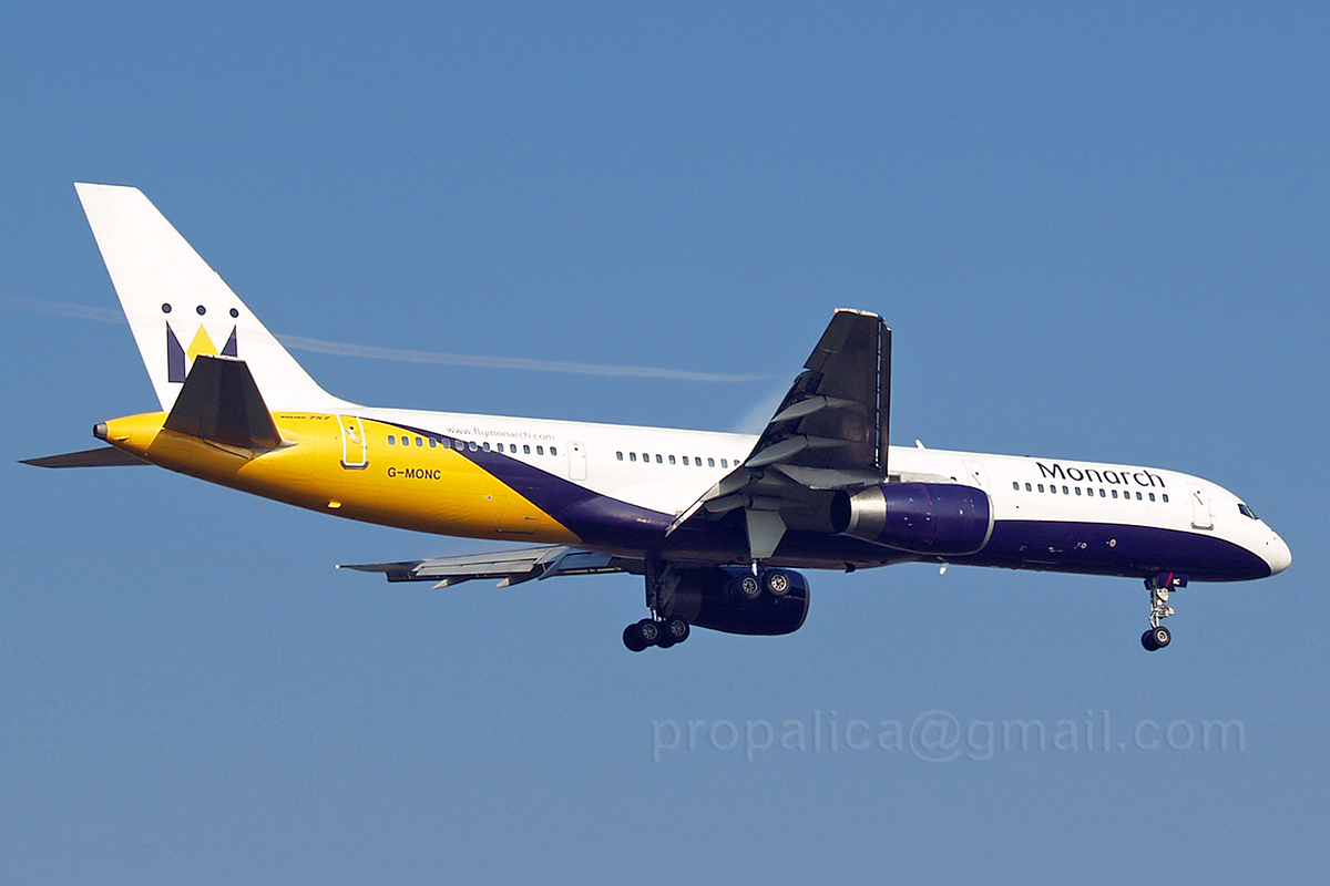 B757-2T7 Monarch Airlines G-MONC Zagreb_Pleso October_11_2006