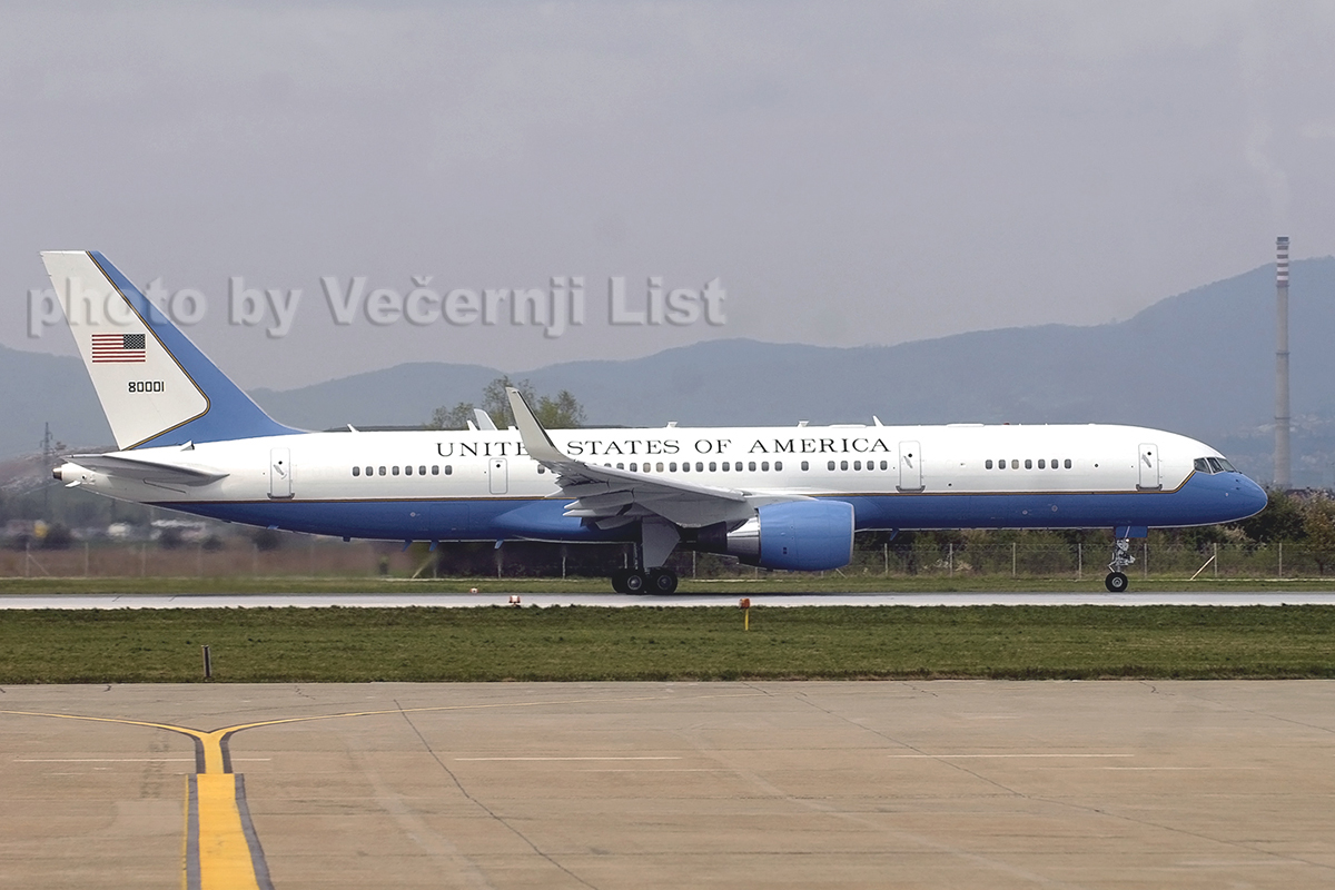 B757-2G4 (C-32A) USAF 98-0001 Zagreb_Pleso, April_5_2008