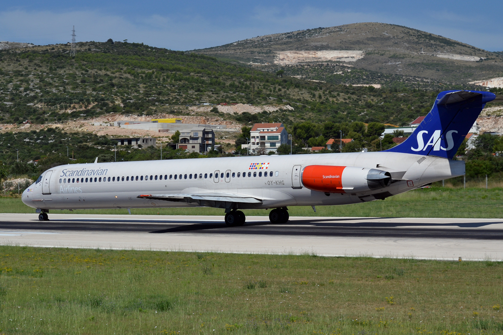 MD-82 (DC-9-82) SAS Scandinavian Airlines OY-KHG Split_Resnik (SPU/LDSP) August_6_2011