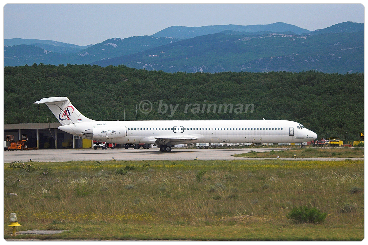 MD-82 (DC-9-82) Air Adriatic 9A-CBC Rijeka Krk May_9_2007