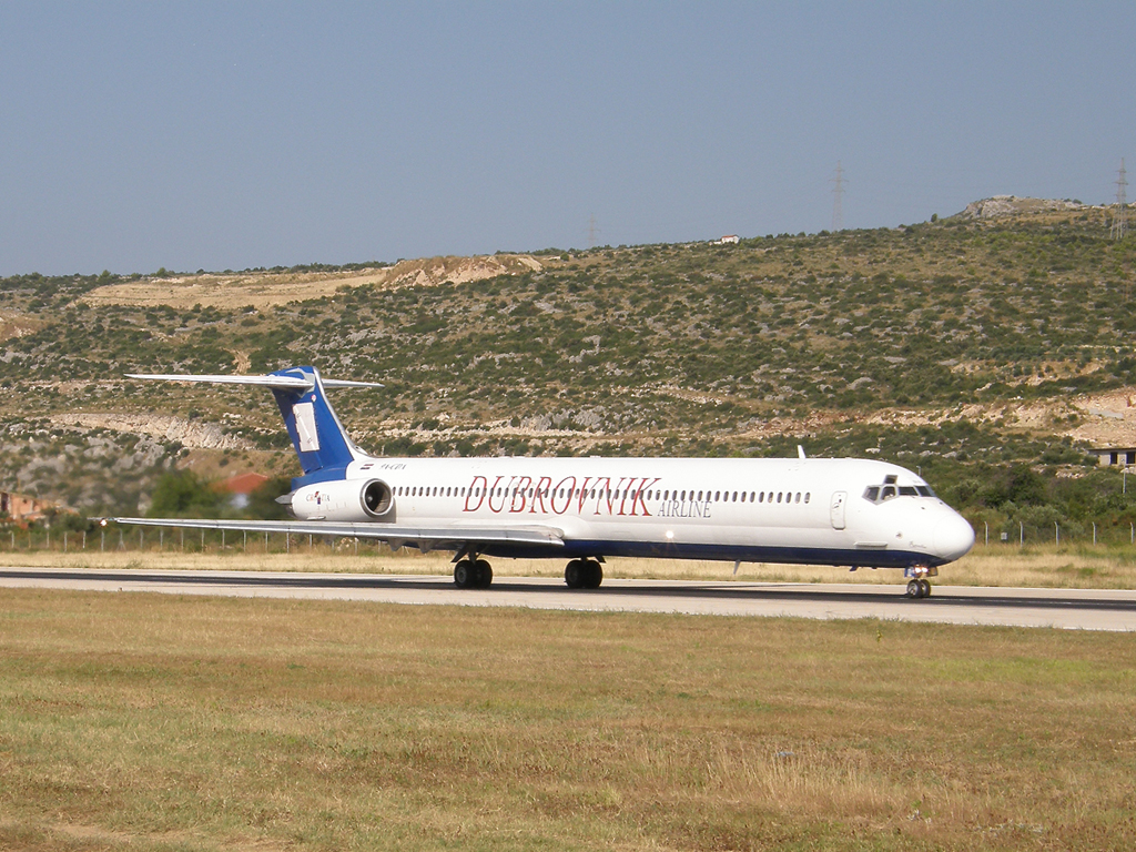 MD-83 (DC-9-83) Dubrovnik Airline 9A-CDA Split_Resnik August_08_2009