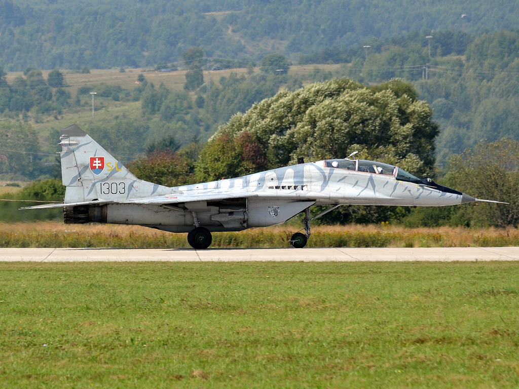 MiG-29UBS Slovakia Air Force 1303 Sliac (SLD/LZSL) August_27_2011