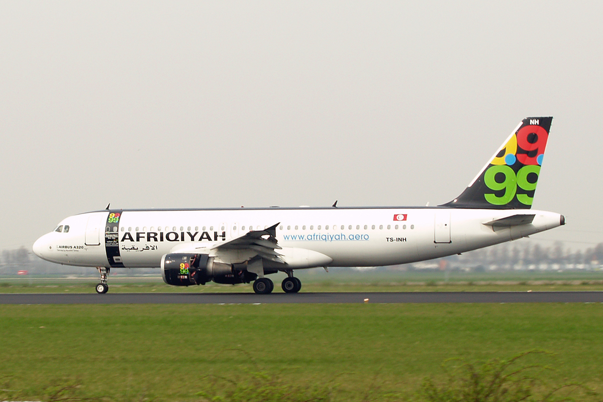 A320-211 Afriqiyah Airways TS-INH Amsterdam Schiphol April_21_2006