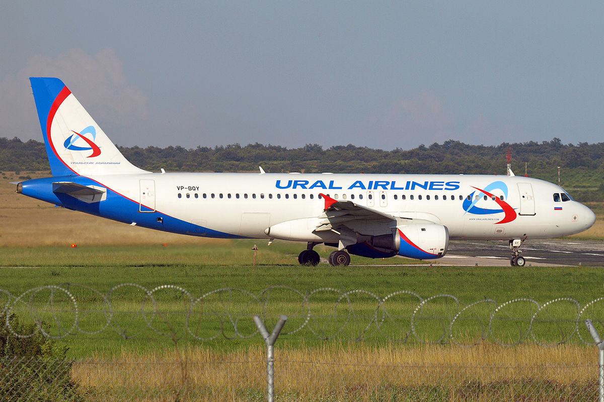 A320-211 Ural Airlines VP-BQY Pula June_16_2007