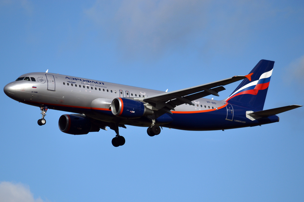 A320-214 Aeroflot Russian Airlines VP-BID Prague_Ruzyne (PRG/LKPR) February_03_2013