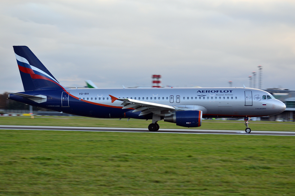 A320-214 Aeroflot Russian Airlines VQ-BIV Prague_Ruzyne (PRG/LKPR) November_16_2014