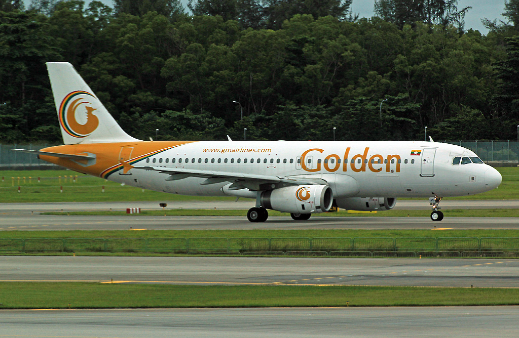 A320-232 Golden Myanmar Airlines XY-AGS Sinagpore_Changi December_4_2013