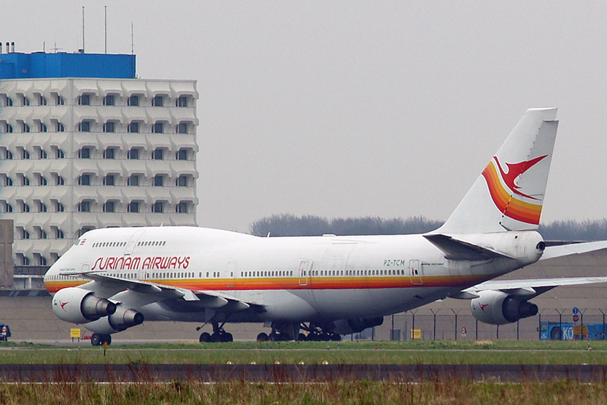 B747-306M Surinam Airways PZ-TCM Amsterdam Schiphol April_15_2006