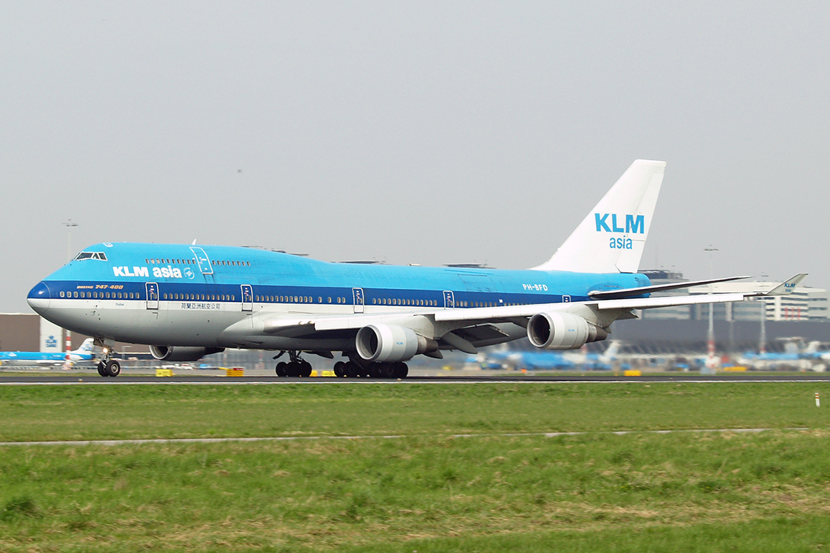 B747-406M KLM Asia PH-BFD Amsterdam Schiphol April_21_2006