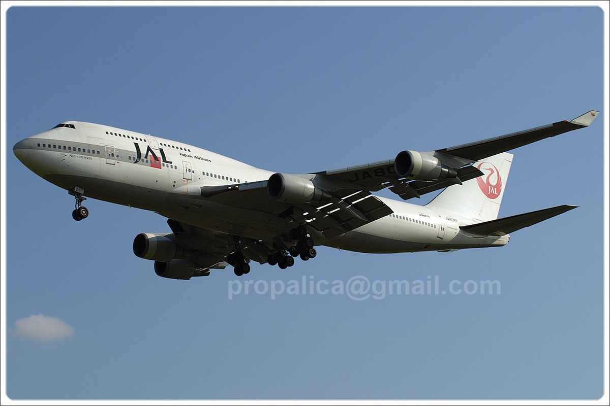 B747-446 Japan Airlines - JAL JA8087 Zagreb_Pleso August_25_2007 A