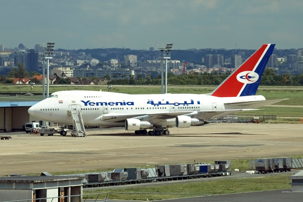 B747SP-27 Yemenia - Yemen Airways 7O-YMN Paris_Orly_Sud June_25_2007