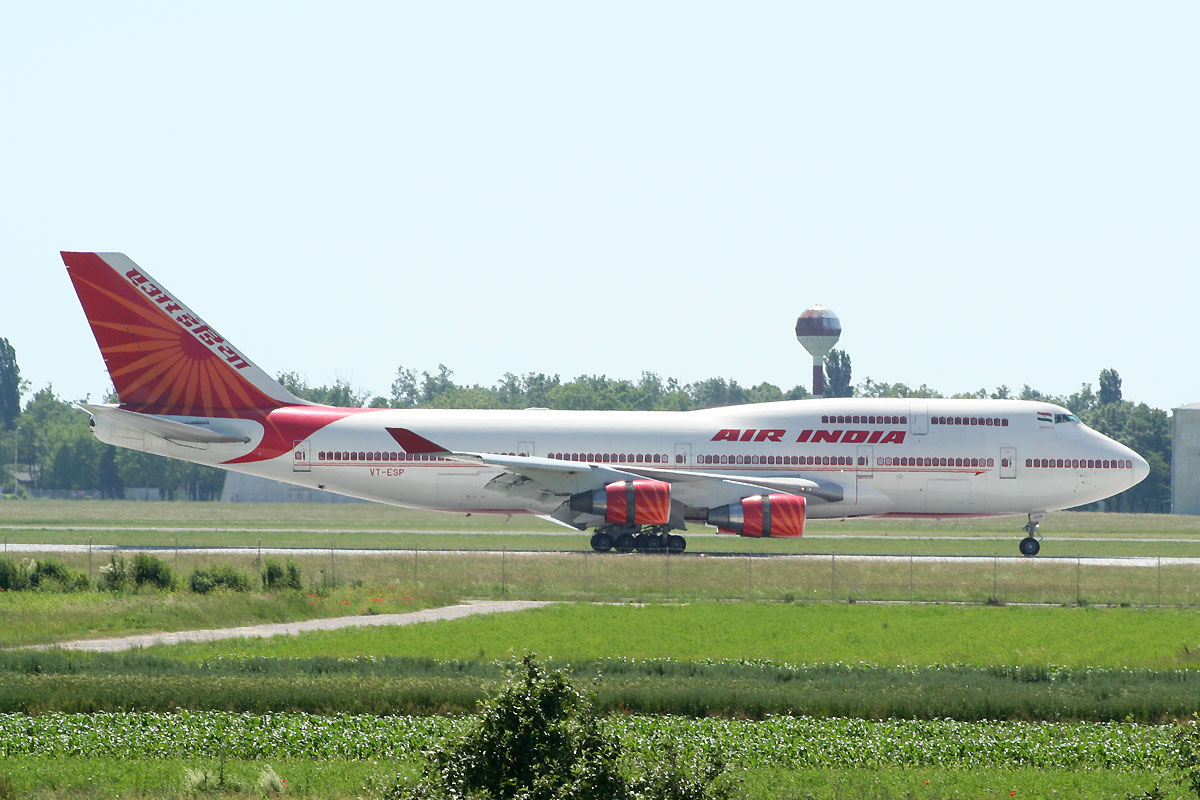 B747-437 Air India VT-ESP Zagreb Pleso June_9_2010