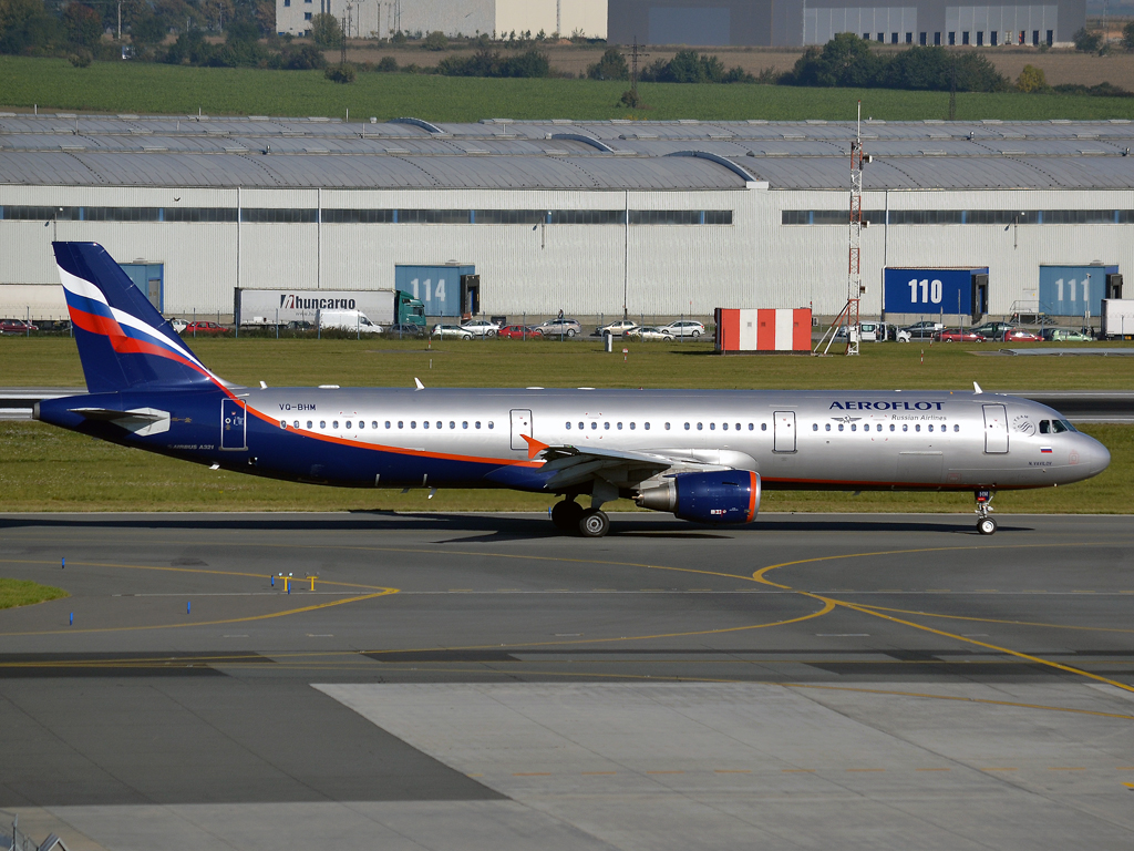 A321-211 Aeroflot Russian Airlines VQ-BHM Prague_Ruzyne (PRG/LKPR) October_2_2011
