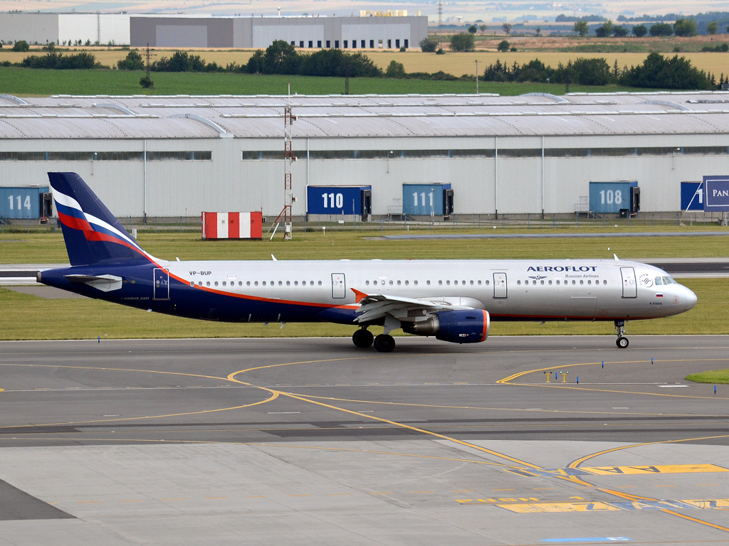 A321-211 Aeroflot Russian Airlines VP-BUP Prague_Ruzyne (PRG/LKPR) July_09_2011
