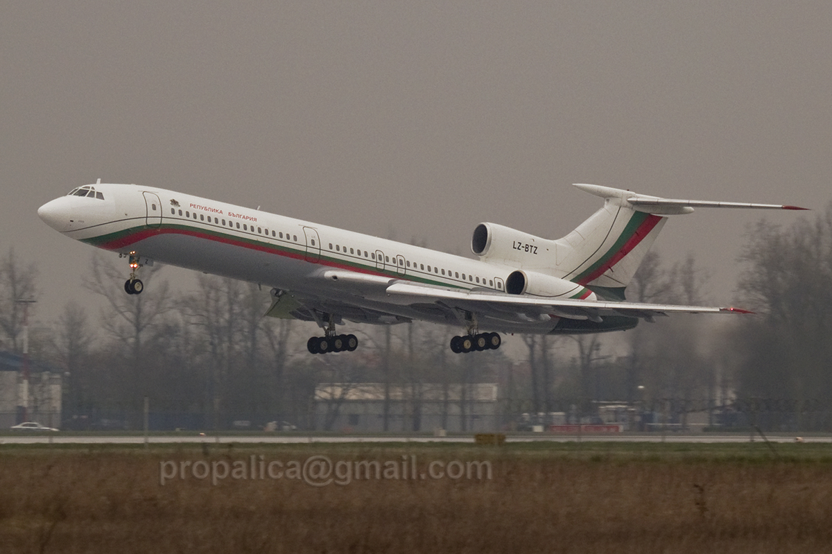 Tupolev Tu-154M Bulgaria - Government LZ-BTZ Zagreb_Pleso (ZAG/LDZA) April_4_2007