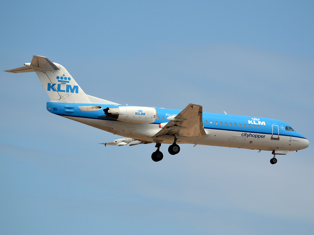 Fokker 70 (F-28-0070) KLM Cityhopper PH-JCT Frankfurt_Main (FRA/EDDF) May_27_2012