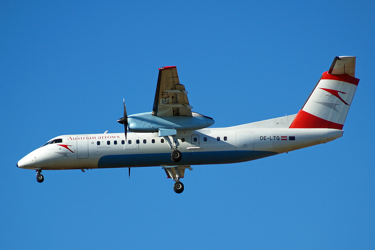 DHC-8-314Q Dash 8 Austrian Arrows (Tyrolean Airways) OE-LTG Zagreb_Pleso February_14_2007