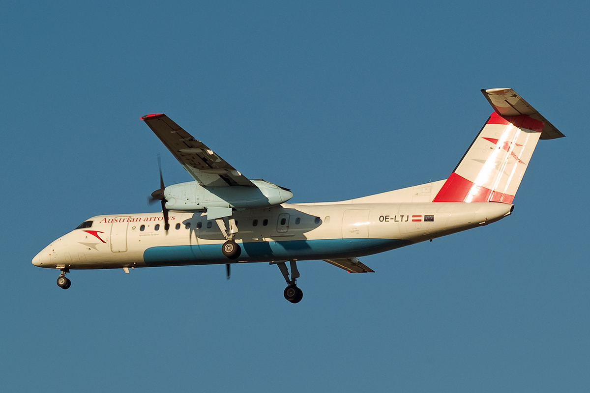 DHC-8-314Q Dash 8 Austrian Arrows (Tyrolean Airways) OE-LTJ Wien_Schwechat April_8_2007