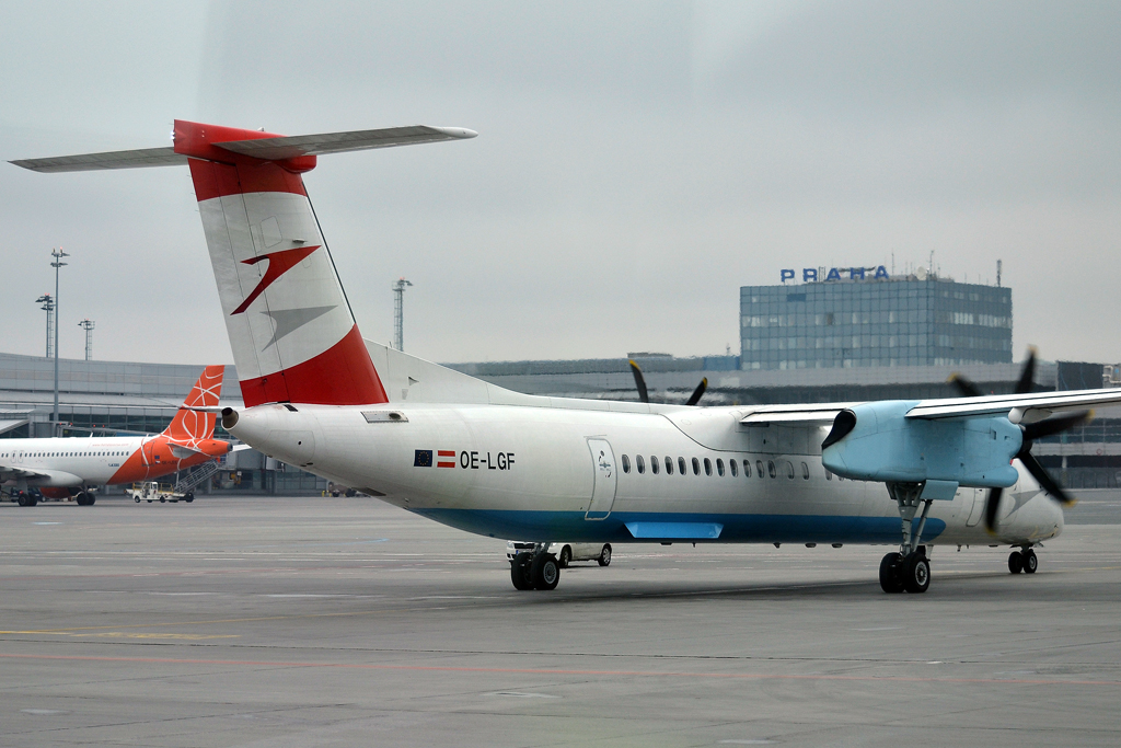 DHC-8-402Q Dash 8 Austrian Airlines (Tyrolean Airways) OE-LGF Prague_Ruzyne (PRG/LKPR) April_28_2013