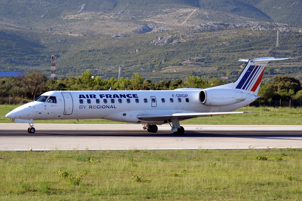 ERJ-135ER Air France (Regional Airlines) F-GRGP Split_Resnik (SPU/LDSP) August_6_2011