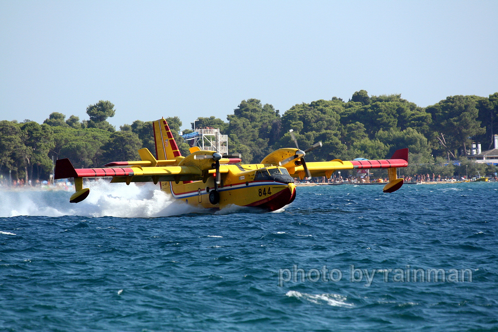 Canadair CL-415 Croatia Air Force HRZ 844 Zadar Bokanjac July_27_2007
