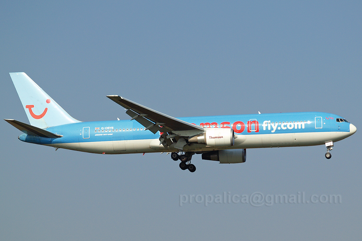 B767-304/ER Thomsonfly (Britannia Airways) G-OBYB Zagreb_Pleso October_11_2006