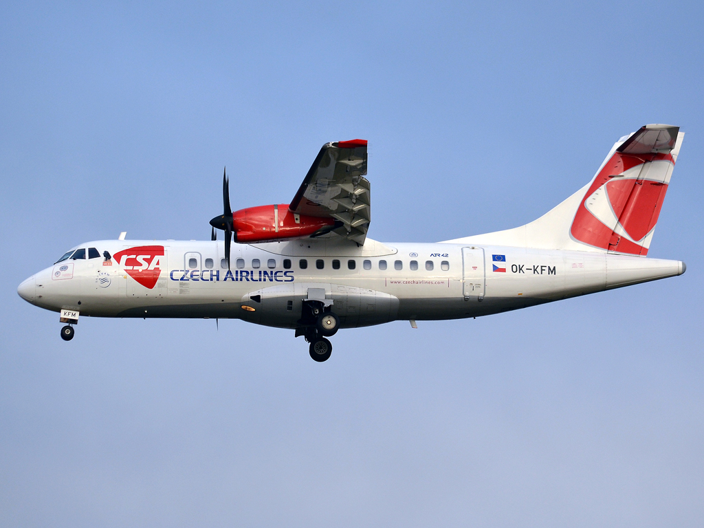 ATR-42-500 CSA Czech Airlines OK-KFM Prague_Ruzyne (PRG/LKPR) December_23_2011