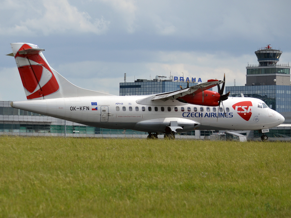 ATR-42-500 CSA Czech Airlines OK-KFN Prague_Ruzyne (PRG/LKPR) June_09_2012