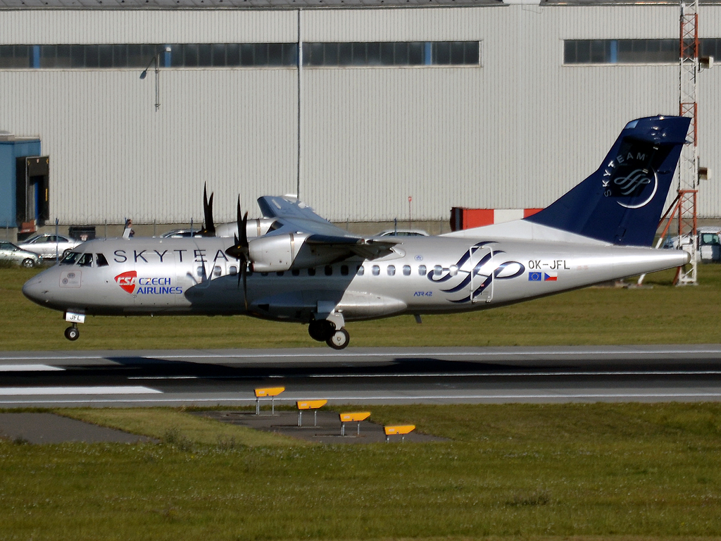 ATR-42-500 CSA Czech Airlines OK-JFL Prague_Ruzyne (PRG/LKPR) October_2_2011