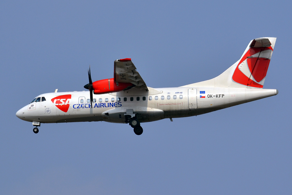 ATR-42-500 CSA Czech Airlines OK-KFP Prague_Ruzyne (PRG/LKPR) March_30_2013
