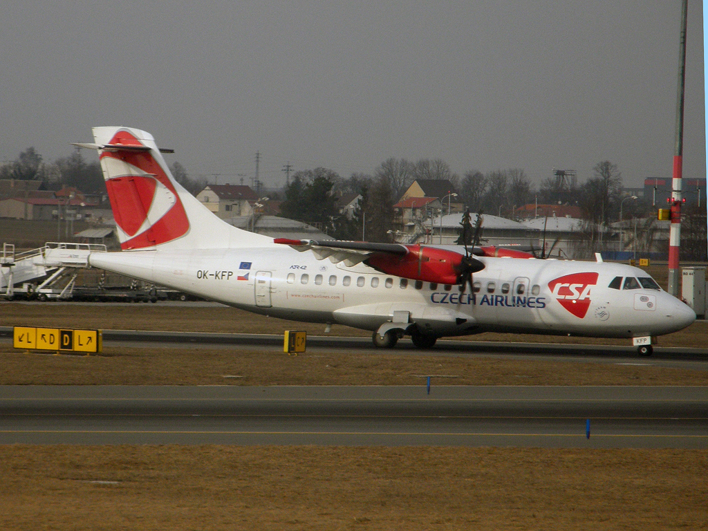 ATR-42-500 CSA Czech Airlines OK-KFP Prague_Ruzyne (PRG/LKPR) March_12_2011