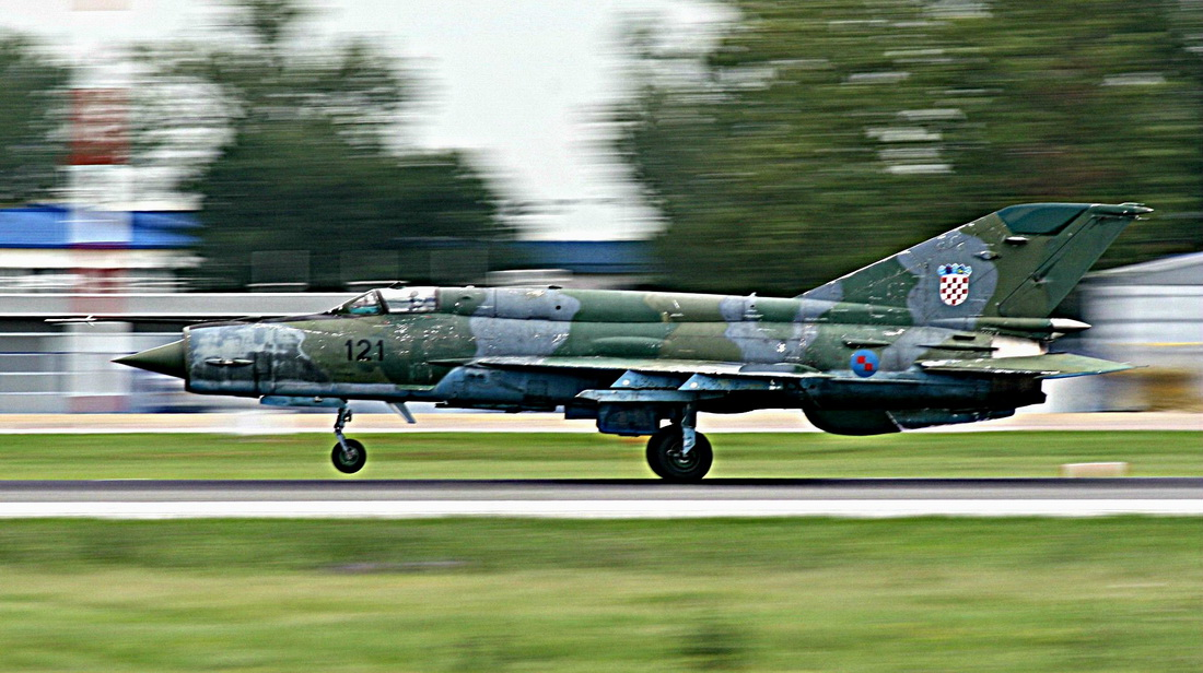 MiG-21bisD Croatia Air Force 121 Zagreb_Pleso (LDZA) July_30_2014
