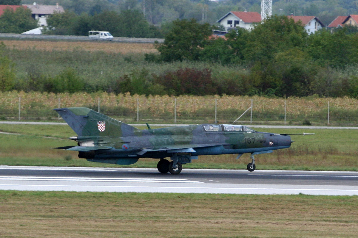 MiG-21UMD Croatia Air Force 167 Zagreb_Pleso (ZAG/LDZA) September_8_2011