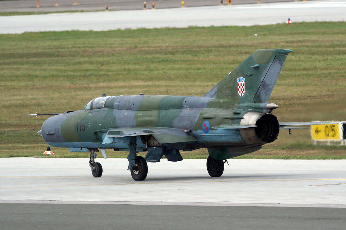 MiG-21bisD Croatia Air Force 115 Zagreb_Pleso (ZAG/LDZA) September_8_2011
