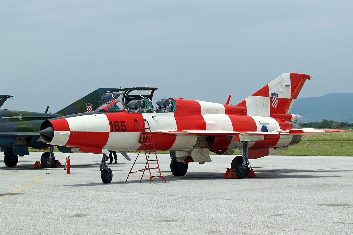 MiG-21UMD Croatia Air Force 165 Zagreb_Pleso (ZAG/LDZA) May_12_2007