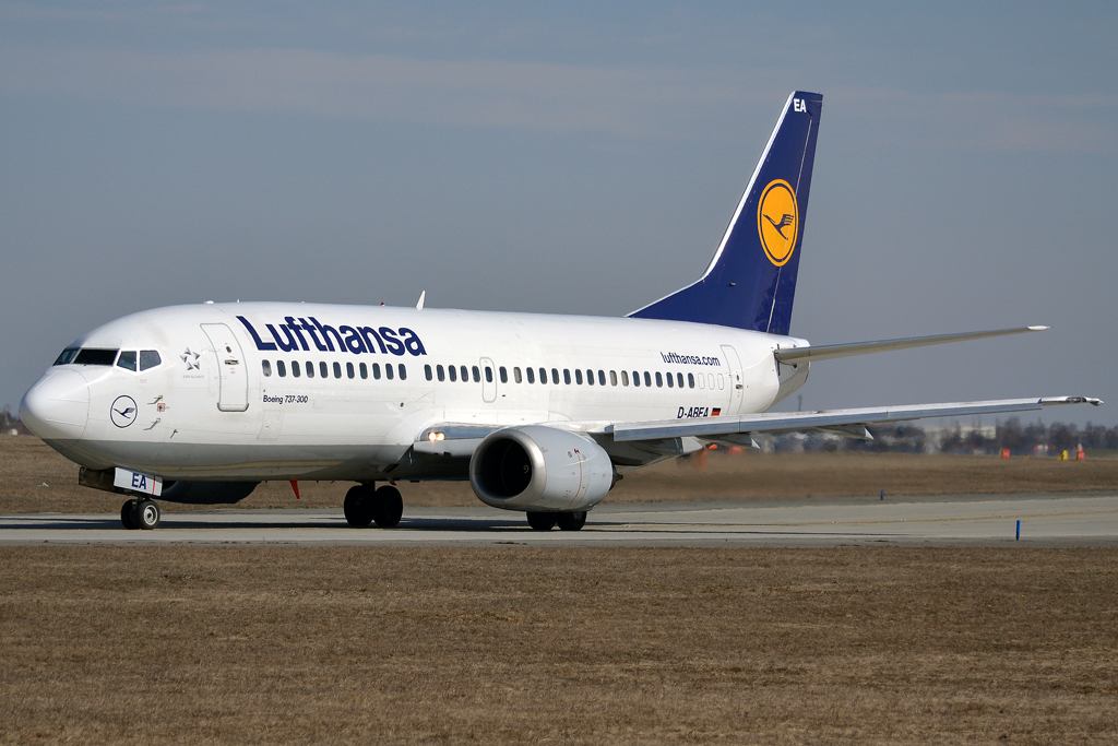 B737-330 Lufthansa D-ABEA Prague_Ruzyne (PRG/LKPR) March_24_2013
